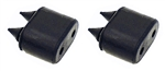 1967 - 1969 Camaro Door Jamb Shell Opening Rubber Bumper Stoppers, Pair