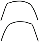 1978 - 1988 Advanced Design Roof Rail Coated Rubber Weatherstripping ( Peel and Stick ): Chevrolet Monte Carlo, Olds Cutlass, Buick Regal, Pontiac Grand Prix