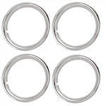14 X 6 Wheel Trim Rings Set, Rally Wheel Style