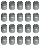 1982 - 2002 Camaro Lug Nut Cover Cap 12337914, SILVER / LIGHT GRAY 20 Piece Set