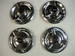 Rallye Wheel Center Caps Straight Spinner - Insert Choice - Set of 4