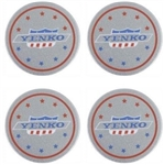 YENKO Wheel Center Cap Decals, Set of Four