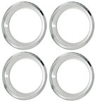 14 x 7 Wheel Trim Rings, SS Deep Dish Style, Set of 4