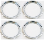 15 x 6 Rally Wheel Trim Rings, Stainless Steel - Set of 4, USA Made with Notched Valve Stem Opening