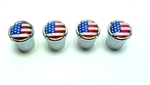 American Flag Wheel Valve Stem Caps