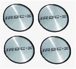 1988 - 1990 IROC-Z Wheel Center Caps, Set of 4, Silver and Black