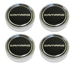 1980 - 1981 Five Spoke N90 Mag Aluminum Wheel Camaro Black Center Caps, Set