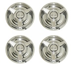 Rally Wheel Center Cap Set with Three Bar Spinners and Bowtie Logo, Premium Quality