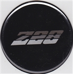 Center Cap Decal Decal, Black with Silver Z28, 2 1/8 Inches, Each