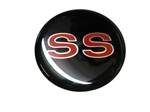 Center Cap Decal Decal, Black with Red SS, 2 1/8 Inches, Each