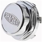 Cragar Chrome Eliminator Replacement Center Cap, Each