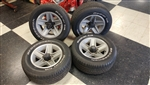1982 - 1992 Camaro Five Spoke Mag Aluminum Wheels and BFG Tires Set, Original Used