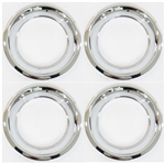 15 X 7 Wheel Trim Ring, Rally Wheel Style Round Smooth Edge, Set of Four