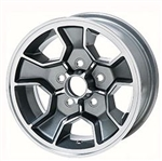 1980 - 1981 Camaro Five Spoke Mag Aluminum Wheel Rim, 14x7