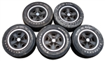 1971 - 1973 Wheels Set for Z28 and Chevelle, 5-Spoke, 5 Wheels, GM Original Used