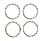 1970 - 1981 15 x 7 Wheel Trim Rings Set, Z28 Style - Shiney Stainless Version