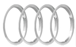 1970 - 1981 Camaro 15 x 7 Wheel Trim Rings Set, Z28 Style ( Brushed Stainless )