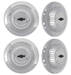 1967 Camaro Dog Dish Poverty Hubcap Set, 4 Piece Wheel Center Cap Kit