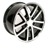 1993 - 2002 35th Anniversary Camaro 17 x 9 Black with Machined Face Finish 10 Spoke Wheels, Set of 4