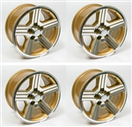 1988 - 1990 Camaro 17 x 9 IROC-Z GOLD Wheels, Set of 4
