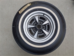 Uniroyal Glasbelt Fastrak Belted White Wall Tire and Rallye Wheel Combo, Used Vintage GM