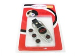 Valve Stem Caps and Key Chain Kit, Black with Red Chevy Bowtie