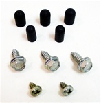 1968 - 1969 Windshield Washer Bottle Bracket Screws and Rubbers for R/S