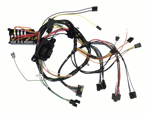 WIR 129 2?1479191086 1969 camaro under dash main wiring harness, auto trans with gauge wiring harness at virtualis.co