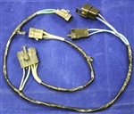 1970 - 1971 Speaker Wiring Harness, with AM, AM/FM mono, with single center dash speaker and rear seat speaker fader connection