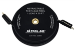 Retractable Test Lead Reel Wire with Alligator Clip, 1 Lead x 30'