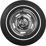 E70-14 Firestone Wide Oval Tire with Thin White Wall Pin Stripe