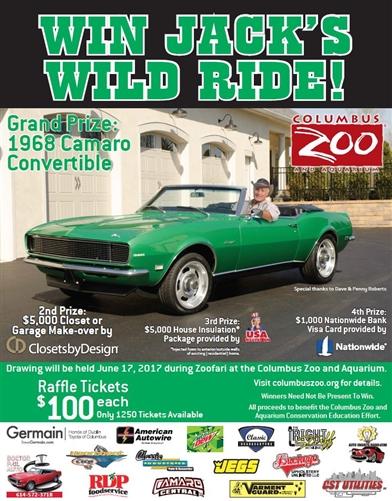 1968 Camaro Convertible RAFFLE, Tickets $100 each, Proceeds benefit ...