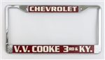 V.V. Cooke Chevrolet License Plate Frame