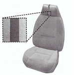 1980 - 1981 Camaro Deluxe Interior Front Bucket Seat Covers Set, Sierra Grain Vinyl with Derma Grain Vinyl Inserts