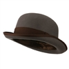 Jeanne Simmons - Men's Felt Bowler Hat with Ribbon Trim