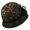 Jeanne Simmons - Brown/Black Lace Cloche