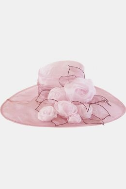 Something Special- Organza Fancy Hat w/ Roses