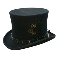 Conner Hats - Australian Wool SteamPunk Top Hat