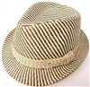 JFH- Striped Stingy Brim Fedora