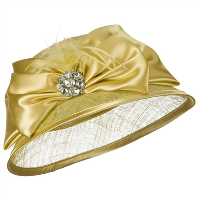 Something Special- Sinamay Hat w/ Big Satin Bow