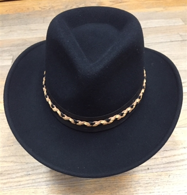 Parati Hats - Black Fedora