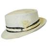 Carlos Santana - Rewind Shantung Straw Diamond Crown Fedora Hat