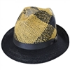 Carlos Santana -  Trishul Toyo and Hemp Straw Fedora Hat