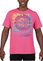 PINK SPRAY-PAINT TEE