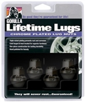 Gorilla Black OEM Lifetime Lug 4 Pack