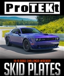 ProTEKt Challenger Widebody Custom Fit Front Bumper Protection Skid Plates