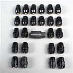 "Gorilla ""The System"" 24 Pack Black Locks 12 x 1.5 Thread Pitch"