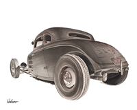"1934 Ford Hotrod Print ""SOLD OUT"""