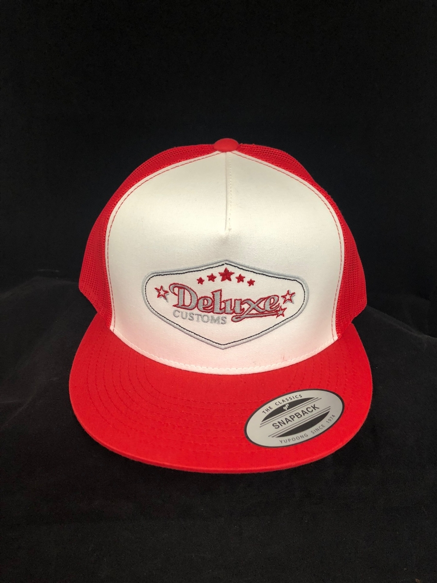 High Crown Canvas Deluxe Trucker Hats (red) 7e0ca193ee3
