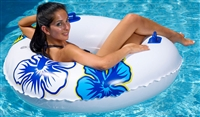 Kerlis Giant Inflatable Tube With Hawaiian Design